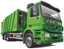 Moderne vuilnisauto vector illustratie