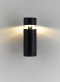 Moderne Wandlampe mit Beleuchtung Stockfotos