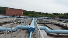 Moderne waterbehandeling stock videobeelden
