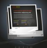 Moderne website Stock Foto