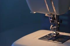 Nähmaschinenahaufnahme Stockfoto
