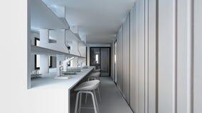 Moderne weiße Wiedergabe Labor/3D Stockfotografie