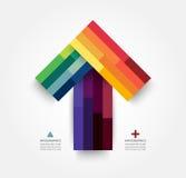 Moderne weiche Farbedesignschablone Stockbild