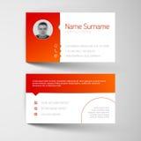 Moderne weiße und rote Visitenkarteschablone Lizenzfreie Stockfotografie