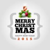 Moderne Weihnachtskarte Lizenzfreies Stockfoto