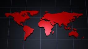 Moderne Weltkarte Lizenzfreie Stockfotos