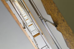 Moderne wenteltrap Royalty-vrije Stock Foto