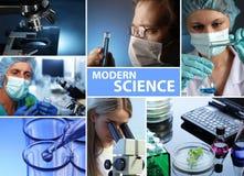 Moderne wetenschapscollage Stock Foto