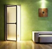 Moderne Wiedergabe der Couch 3D Lizenzfreie Stockfotos