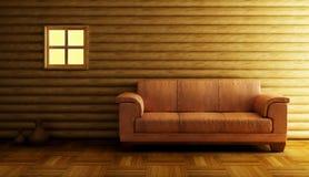 Moderne Wiedergabe der Couch 3D Lizenzfreies Stockbild