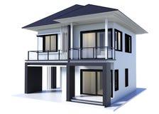 Moderne Wiedergabe des Hauses 3d lokalisierte stock abbildung