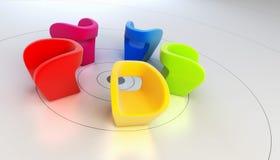 Moderne Wiedergabe des Lehnsessels 3D Stockbild