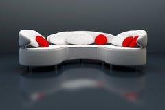 Moderne Wiedergabe des Sofas 3D Stockfoto