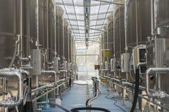 Moderne wijnfabriek Royalty-vrije Stock Foto's