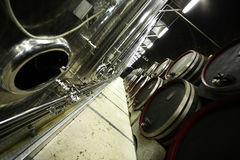Moderne wijnkelder Stock Foto's