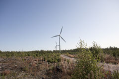 Moderne Windmühle Stockbilder