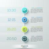 Moderne Wirtschaftskreis infographics Schablone stock abbildung