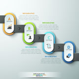 Moderne Wirtschaftskreisorigamiart-Wahlfahne stock abbildung