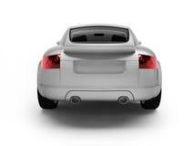 Moderne witte auto achtermening vector illustratie