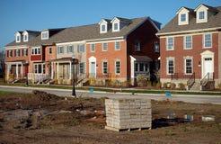 Moderne Wohnsiedlung stockbild