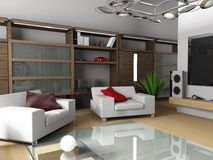 Moderne Wohnung Lizenzfreies Stockfoto