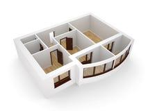 Moderne Wohnung mit balkony Stockfotografie