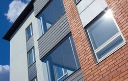 Moderne Wohnungen schließen oben Stockfotos