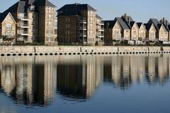 Moderne Wohnungs-Häuser Stockfoto