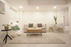 Moderne Wohnzimmerauslegung Lizenzfreies Stockbild