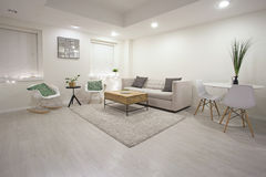 Moderne Wohnzimmerauslegung Stockbild
