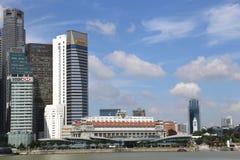 Moderne wolkenkrabber in aanbouw Stock Afbeeldingen