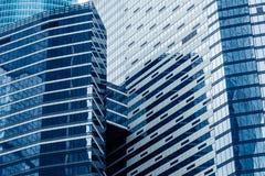 Moderne wolkenkrabbers in een bedrijfsdistrict Hoge stijgingsgebouwen van commercieel van Moskou centrum Moskou - stad Stock Afbeeldingen