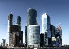 Moderne wolkenkrabbers in Moskou Royalty-vrije Stock Afbeelding