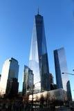 Moderne Wolkenkratzer Manhattans New York Freedom Tower Lizenzfreies Stockfoto