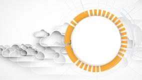 Moderne Wolkentechnologie Geïntegreerd digitaal Webconcept vector illustratie
