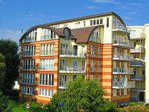 Moderne woningbouw stock afbeelding