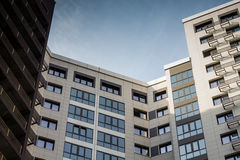 Moderne woningbouw stock foto's