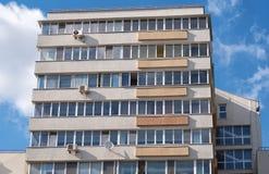 Moderne woningbouw met balkons Stock Foto's