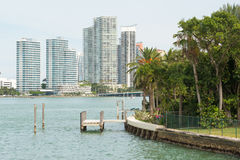 Moderne woningbouw op het Strand van Miami Royalty-vrije Stock Afbeeldingen
