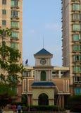 Moderne woningbouw in Shanghai stock afbeelding