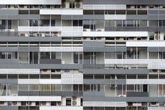 Moderne woningbouwvoorgevel Kuala Lumpur van de binnenstad, Maleisië, Hong Kong-flatstijl, Azië stock foto