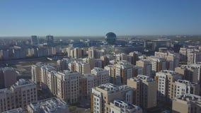 Moderne woon en technologische gebouwen stock videobeelden