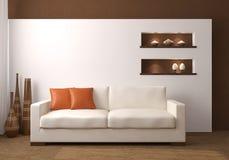 Moderne woonkamer. Royalty-vrije Stock Afbeeldingen