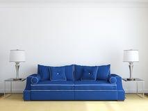Moderne woonkamer. royalty-vrije illustratie