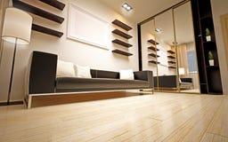 Moderne woonkamer Royalty-vrije Stock Afbeelding