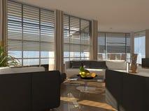 Moderne woonkamer Stock Foto's