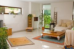 Moderne woonkamer. Stock Afbeelding