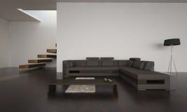 Moderne Woonkamer | Architectuurbinnenland Royalty-vrije Stock Afbeeldingen
