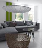 Moderne Woonkamer | Architectuurbinnenland Stock Afbeelding