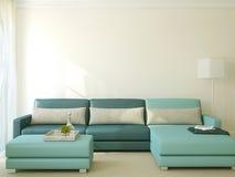 Moderne woonkamer het 3d teruggeven Royalty-vrije Stock Foto's